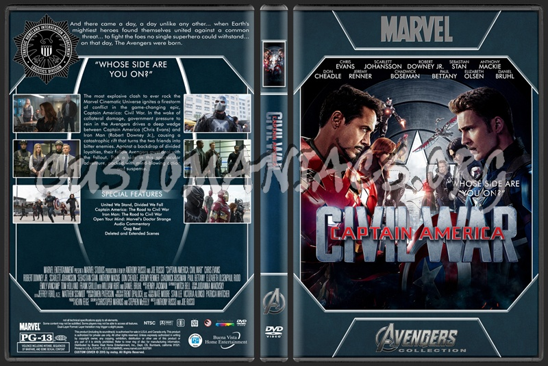 Avengers Collection - Captain America Civil War dvd cover