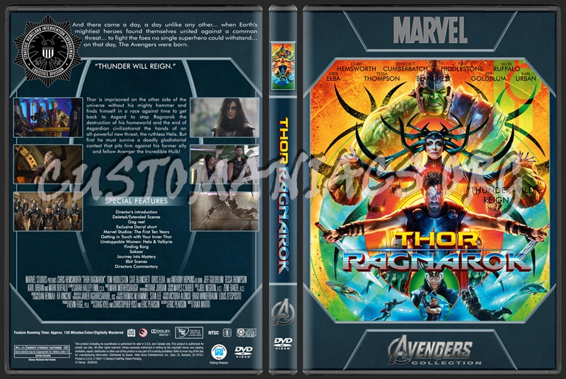 Avengers Collection - Thor Ragnarok dvd cover