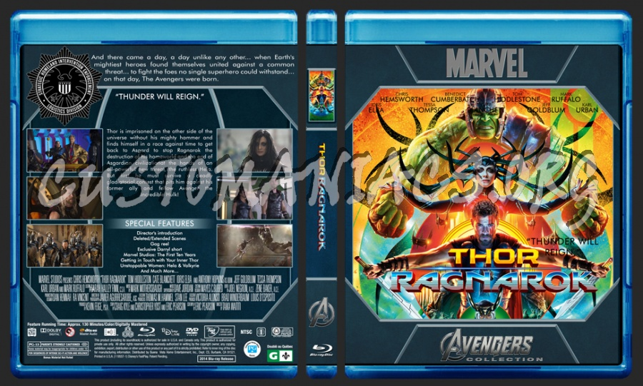 Avengers Collection - Thor Ragnarok blu-ray cover