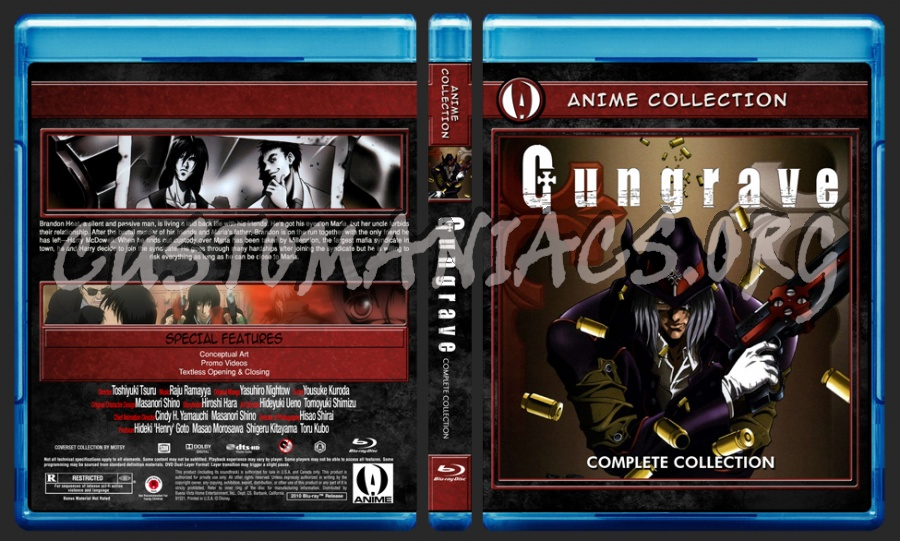 Anime Collection - Gungrave Complete Collection blu-ray cover