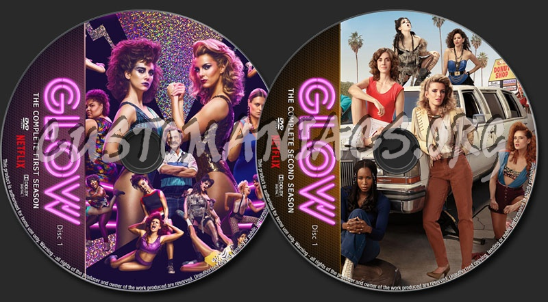 Glow Seasons 1-2 dvd label