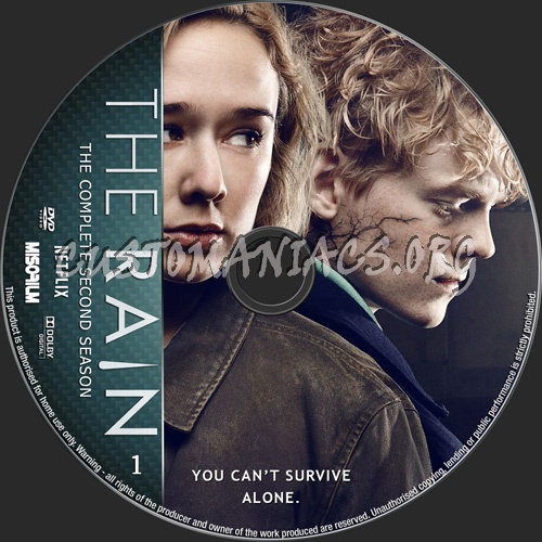 The Rain Season 2 dvd label