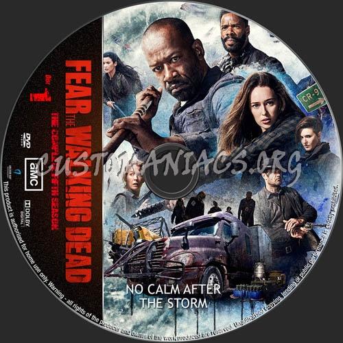 Fear The Walking Dead Season 5 dvd label