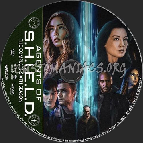 Agents Of S.H.I.E.L.D.Season 6 dvd label