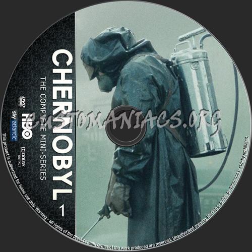 Chernobyl Mini-Series dvd label