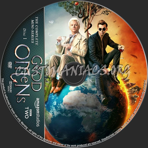 Good Omens Mini-Series dvd label