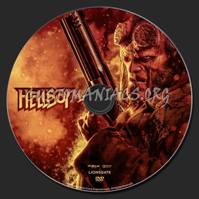 Hellboy (2019) dvd label