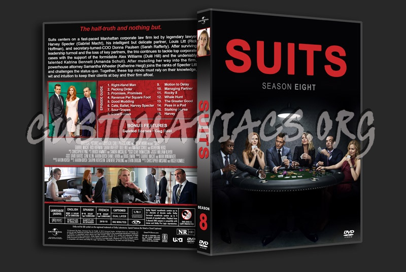 Suits - Season 8 dvd cover