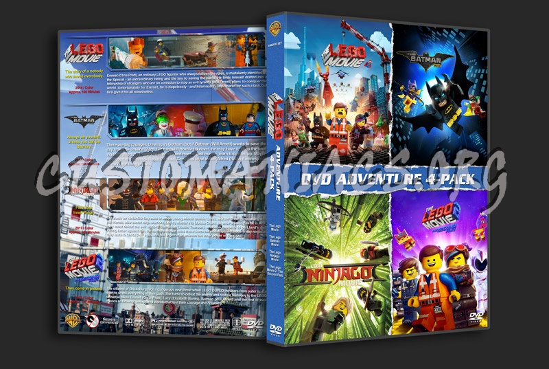 Lego Movie 4-Pack dvd cover