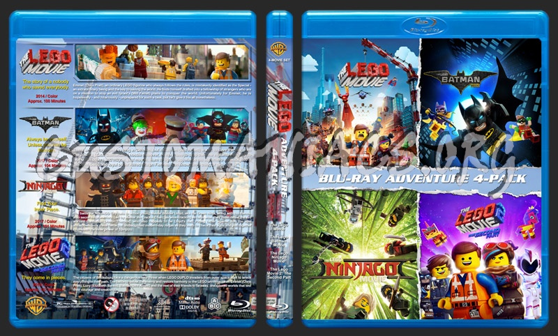 Lego Movie 4-Pack blu-ray cover