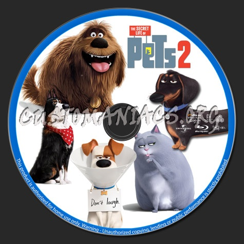 The Secret Life of Pets 2 blu-ray label