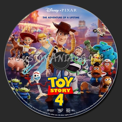 Toy Story 4 dvd label