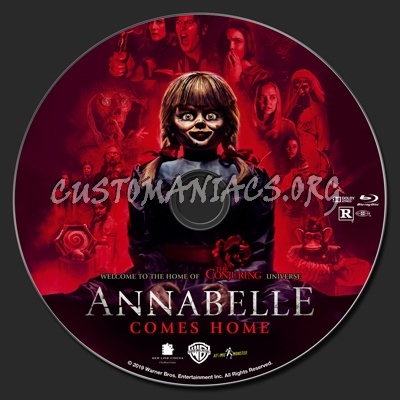 Annabelle Comes Home blu-ray label