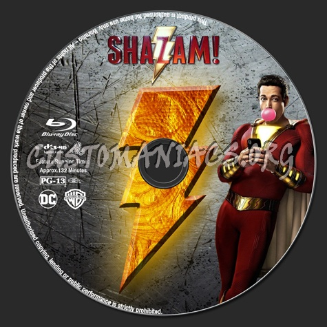 Shazam blu-ray label