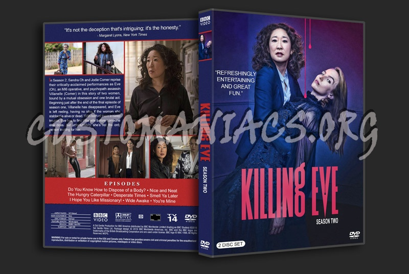 Killing Eve - Season 2 dvd cover