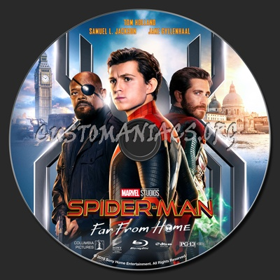 Spider-Man: Far From Home blu-ray label