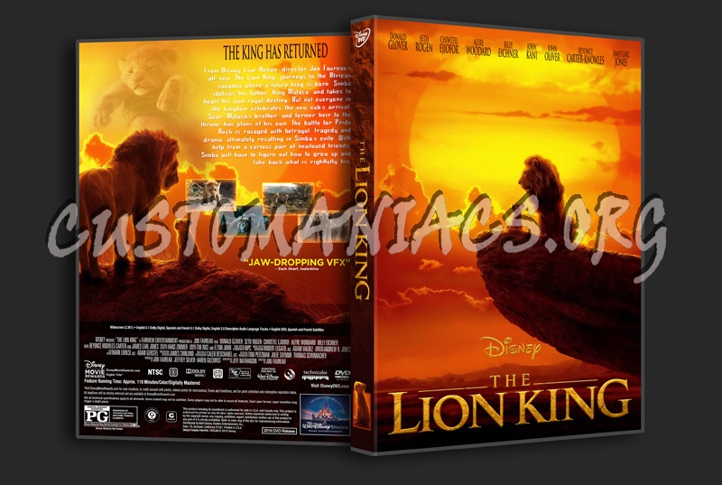 The Lion King 2019 dvd cover