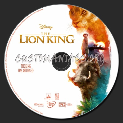 The Lion King 2019 dvd label