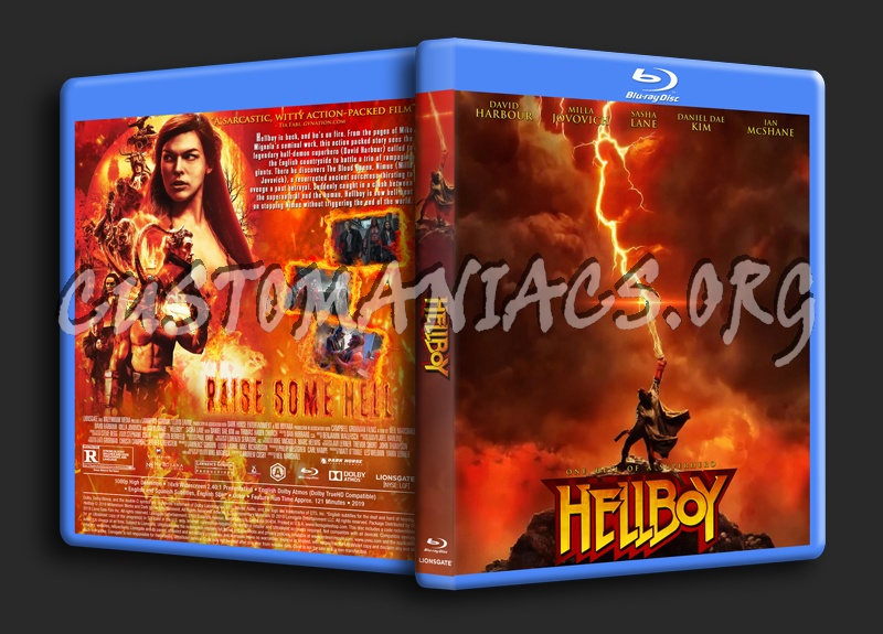 Hellboy (2019) blu-ray cover