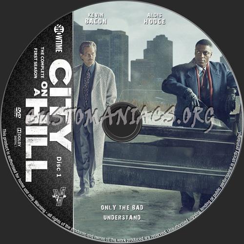 City On A Hill Season 1 dvd label