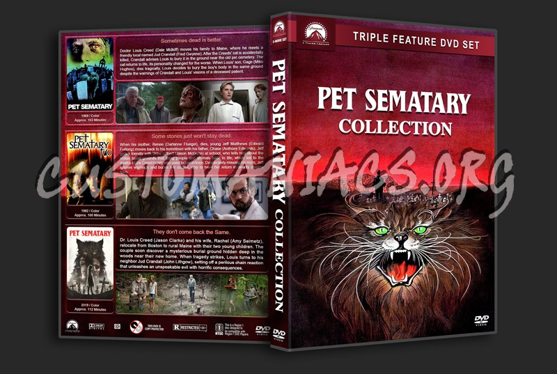 Pet Sematary Collection dvd cover