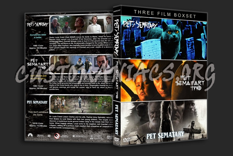 Pet Sematary Triple Feature dvd cover