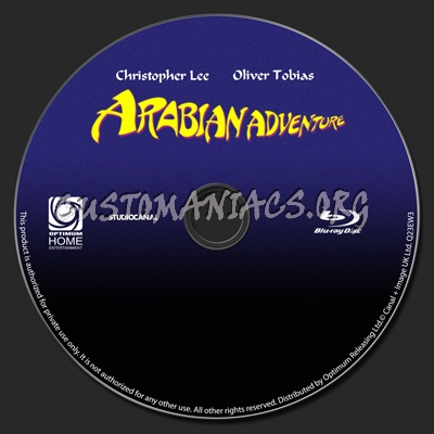 Arabian Adventure dvd label