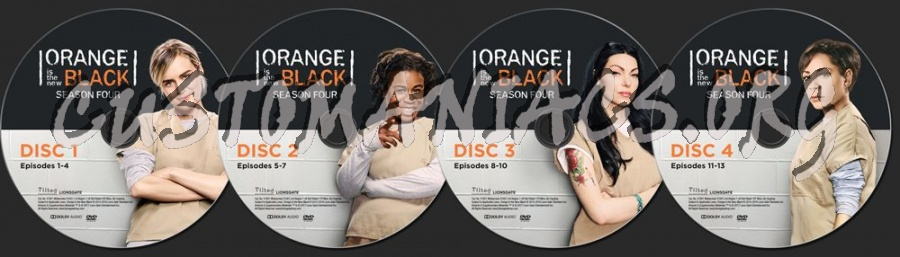 Orange is the New Black Season 4 dvd label