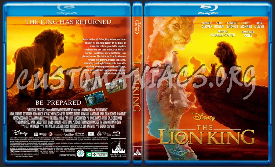 The Lion King 2019 Blu Ray Cover Dvd Covers Labels By