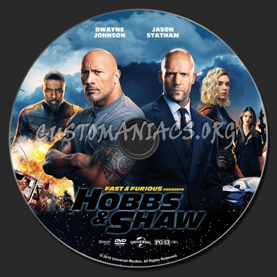 Fast & Furious Presents Hobbs & Shaw dvd label