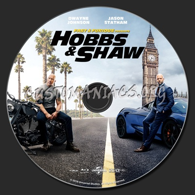 Fast & Furious Presents Hobbs & Shaw blu-ray label