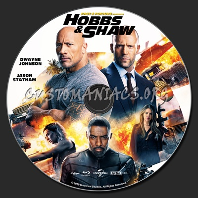Fast & Furious Presents Hobbs & Shaw (2D & 3D) blu-ray label