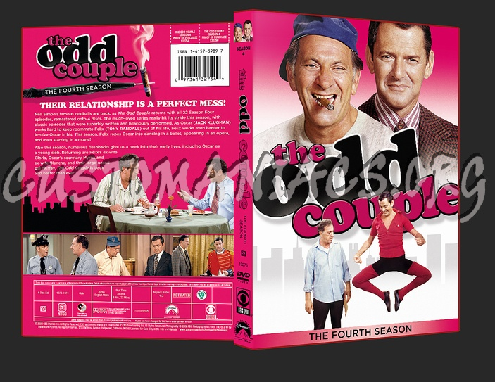 The Odd Couple Season 4 dvd cover