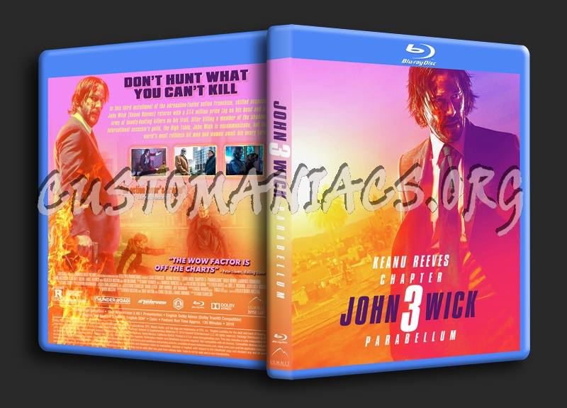 John Wick Chapter 3 - Parabellum blu-ray cover