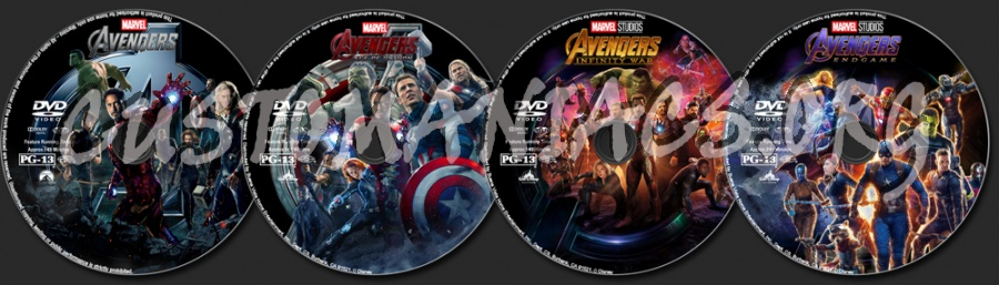 Avengers Collection dvd label