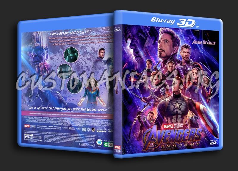 Avengers: Endgame 3D blu-ray cover