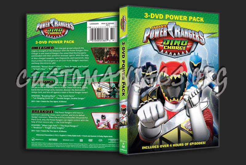 Power Rangers Dino Charge 3-DVD Power Pack dvd cover
