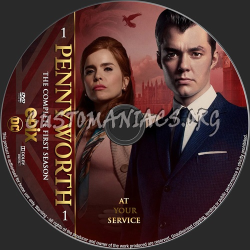 Pennyworth Season 1 dvd label
