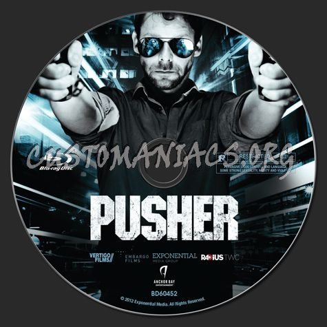 Pusher blu-ray label