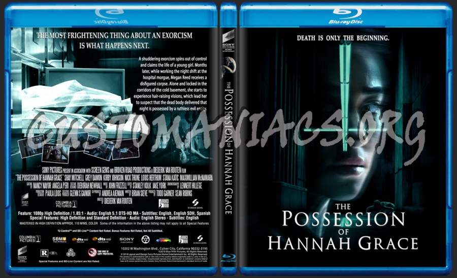 The Possession Of Hannah Grace blu-ray cover