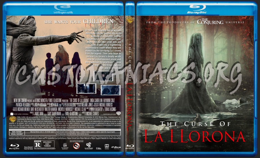 The Curse Of La Llorona blu-ray cover
