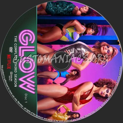 Glow Season 3 dvd label