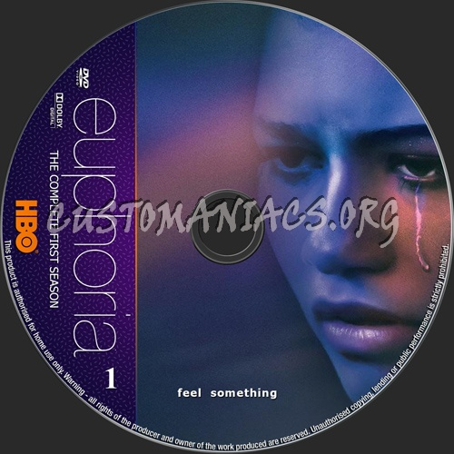 Euphoria Season 1 dvd label