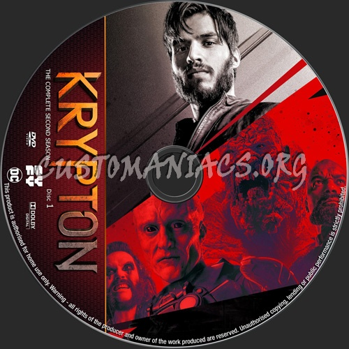 Krypton Season 2 dvd label
