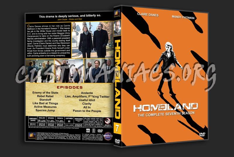 Homeland - Season 7 dvd cover