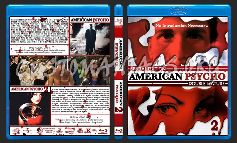 American Psycho Double Feature blu-ray cover