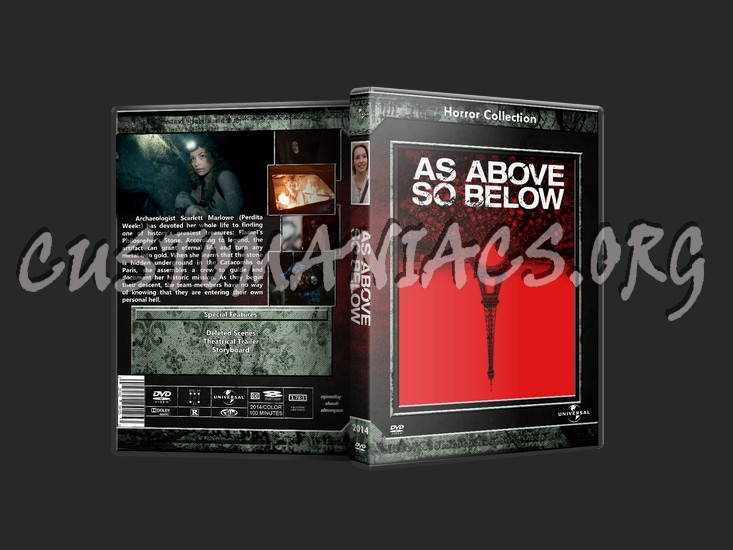As Above So Below dvd cover