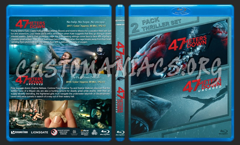 47 Meters Down Double Feature blu-ray cover