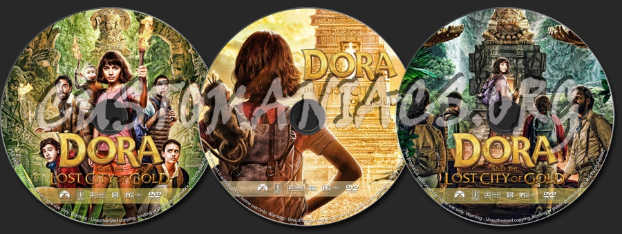 Dora and the Lost City of Gold dvd label