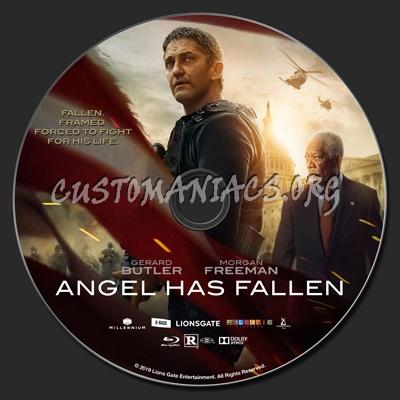 Angel Has Fallen blu-ray label